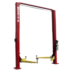 Mountain 12K 2 Post Lift Installed - Red