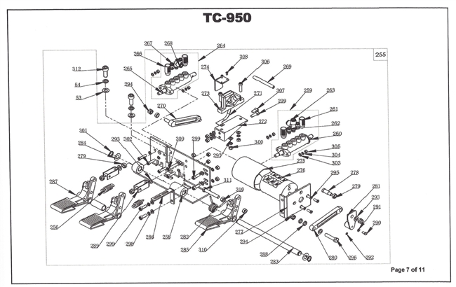 tc-950 parts breakdown