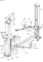 Auto Lift Parts Diagrams   North American Auto Equipment - Auto Lifts   Two Post Car Lift Schematic      North American Auto Equipment