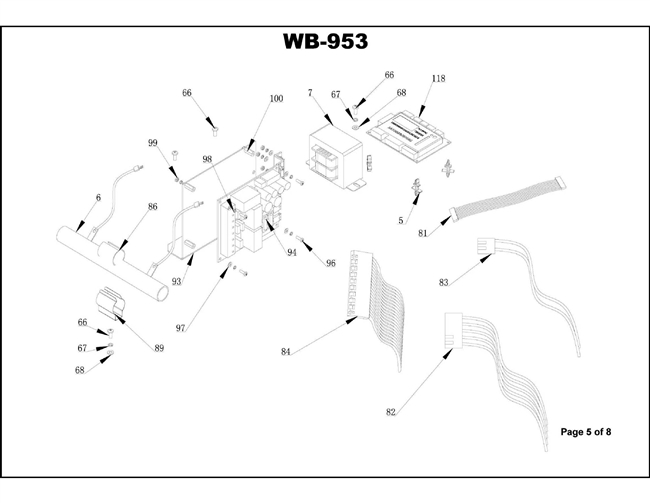 Wb 953 Parts Breakdown Diagrams Of Wheel Service Equipment And Their