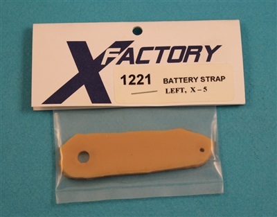 XF-1221  Strap, Battery, rubber, Left, X - 5