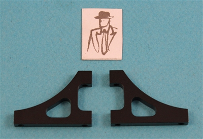 XF-1312 Top Deck Support, Rear, Black 2/pack
