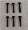 XF-6025 4-40 x 3/4  Flat Head.  6 per pack.