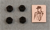 XF-6075 8-32 Locking Nut, Low Profile, Black.  4  per pack.