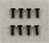 XF-6624 3 X 10 mm Flat Head .  8  per pack.