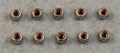 XF-6671  3 mm Locking Nut.  10  per pack.