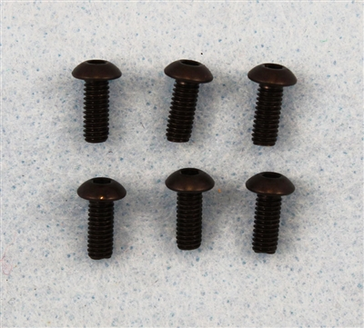 XF-6744  4x10mm Button Head, 6 / pack