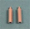 XF-6800 Stand-Off, 3mm X 25mm, male/female.  2  per pack.