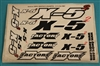 XF-8235 Decals, X - 5 Squared
