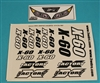 XF-8237 Decals, X - 60