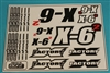XF-8238 Decals, X - 6 SQ