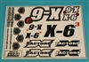 XF-8243 Decals, X - 6 Cubed