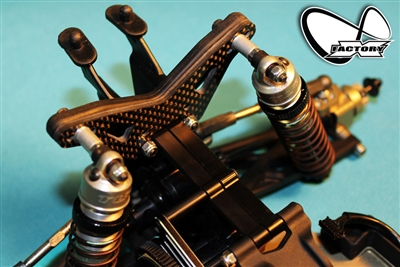 Rear Tower Brace Kit allows you to mount the rear shocks forward.