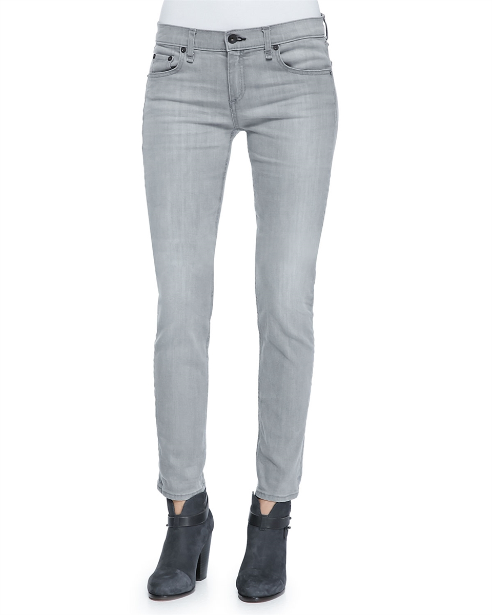 24118877bcb rag & bone/JEAN the dre skinny boyfriend aged grey gray