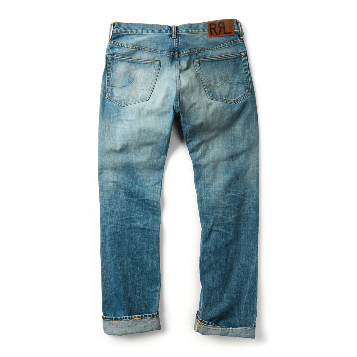 Ralph Lauren Double Rl Rrl Straight Leg Selvedge Jeans In Dylan