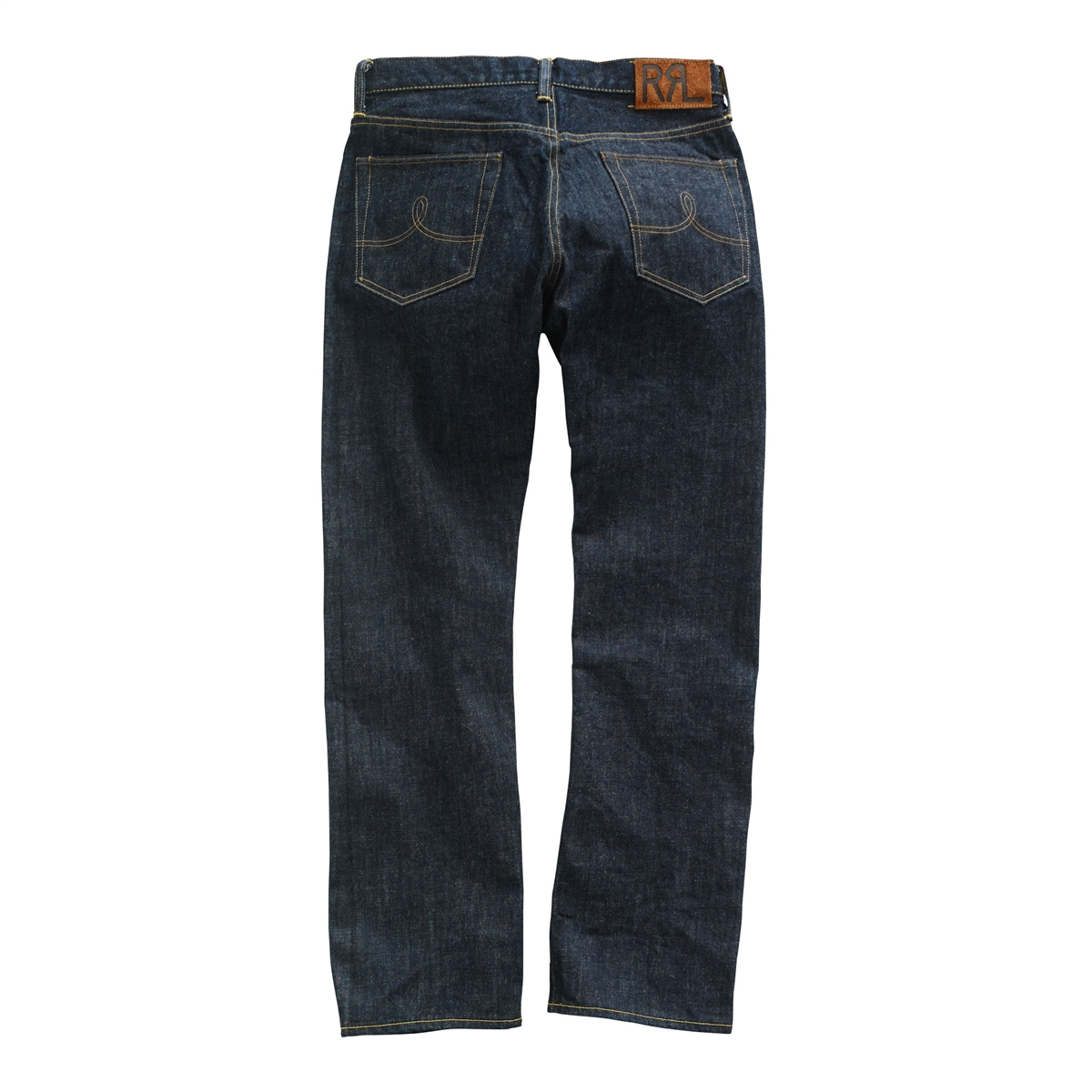 fa23b6e45a8d Ralph Lauren RRL Vintage Straight Leg Selvedge Denim Jeans Once Washed Dark  Wash - Premium Denim
