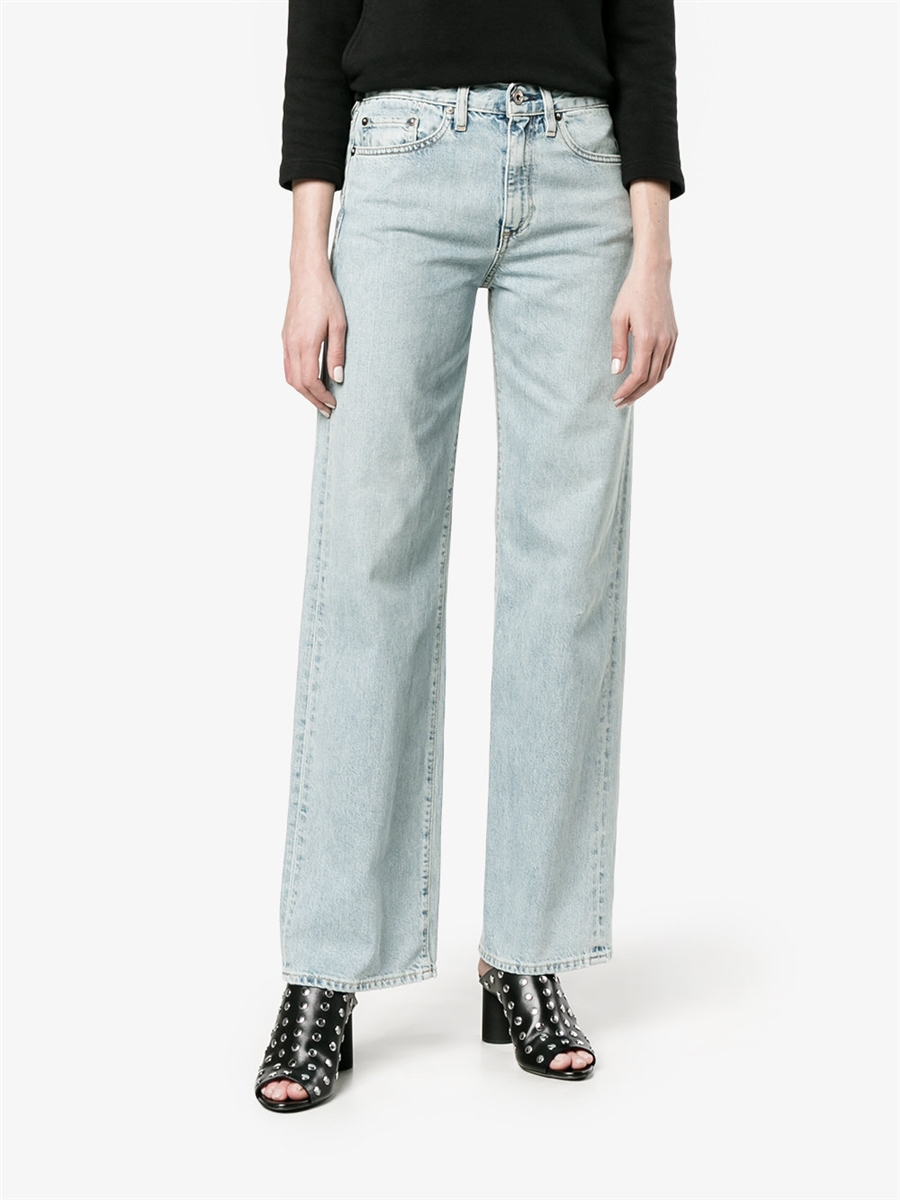 2268ebb3a Simon Miller high waist Wide-Leg w006 Jeans distressed light blue