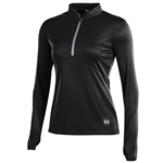 Under Armour Swift Women's 1/4 Zip Mock - Black/Overcast