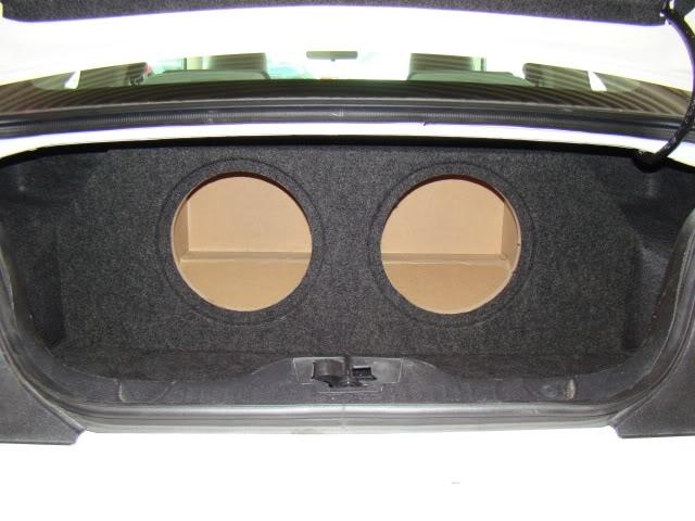 "2005-2014 MUSTANG SUB BOX Subwoofer Box 1-12/"" CORNER MOUNT"