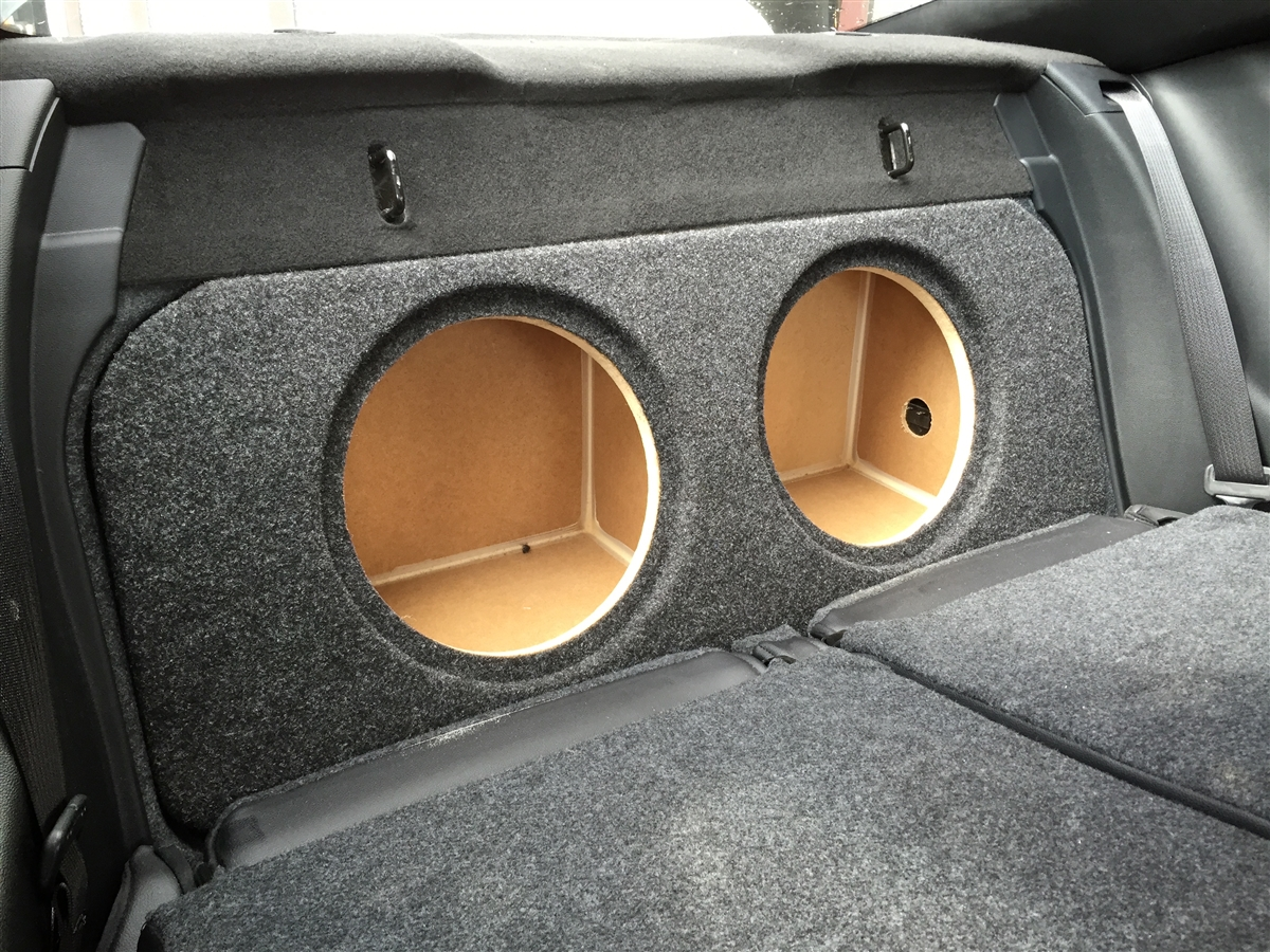 Ford Mustang Coupe 2015-2016 Single / Dual Subwoofer Box FRONT FIRE