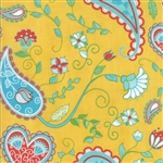 Caravan Roundup Yellow Rose Cowgirl Territory Yardage