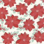 Winterberry Poinsettia Snow Yardage