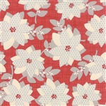 Winterberry Poinsettia Berry Yardage
