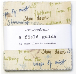 "A field Guide 5"" Charm Squares"