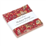 "Madame Rouge 5"" Charm Squares"