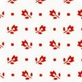 Bunny Tales Red Ditzy Floral Yardage