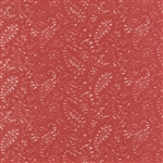 Miss Scarlet Warm Red Medium Paisley Yardage