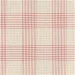 Miss Scarlet Warm Red on Stone Plaid Yardage