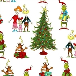 How the Grinch Stole Christmas White Whoville Celebration Yardage