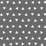 Remix Gray Triangles Yardage