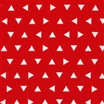 Remix Red Triangles Yardage