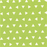 Remix Lime Triangles Yardage