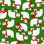 Jingle Green Festive Polar Bear Yardage