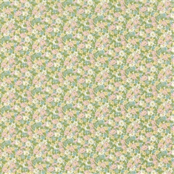 Ambleside Linen White Small Floral Yardage