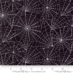 Eerily Elegant Midnight Black Web Wall Yardage