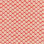 Coney Island Candy Apple Red Cotton Blossoms Yardage