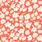 Coney Island Candy Apple Red Buttercups Yardage