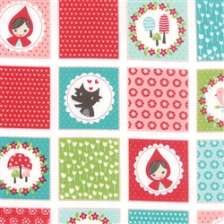 Lil Red Cloud Patchwork Yardage