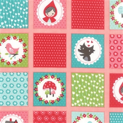 Lil Red Pink Patchwork Yardage