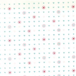 Lil' Red Turquoise on Cloud Sweet Hearts Yardage