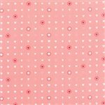Lil' Red Pink Sweet Hearts Yardage
