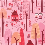 Just Another Walk In The Woods Pink Forest Dark Yardage