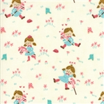 Howdy Porcelain A Gal's Best Friend Yardage