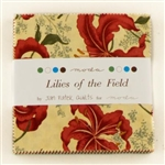 "Lilies of the Field 5"" Charm Squares"