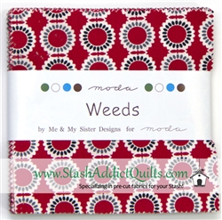 "Weeds 5"" Charm Squares"