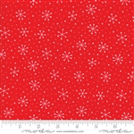 Red Dot Green Dash Poinsettia Red Snowflakes Yardage